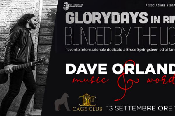 Glory Days Rimini 2019 Live Dave Orlando: Music & Words